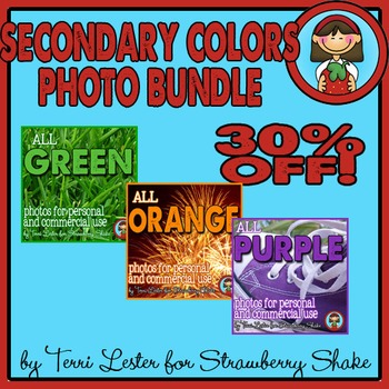 Photos Photographs SECONDARY Color BUNDLE Personal and Commercial Use
