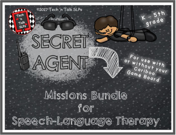 SECRET AGENT Missions Bundle for Speech-Language Therapy
