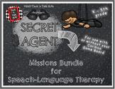 SECRET AGENT Missions Bundle for Speech-Language Therapy