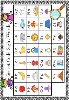Secret Code Sight Words - 2nd Grade Edition