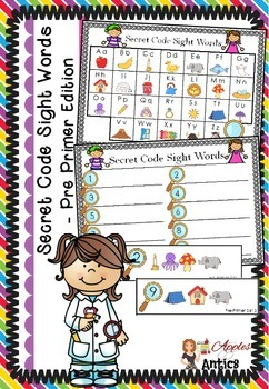 Secret Code Sight Words - Pre Primer Edition