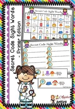 Secret Code Sight Words - Primer Edition