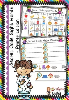 Secret Code Sight Words - Primer Edition