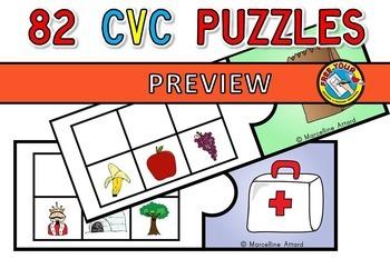 SECRET CVC WORD PUZZLES (CRACK THE CODE CENTER)  SECRET WORDS ACTIVITIES