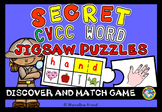 CVCC WORDS PUZZLES (ENDING BLENDS AND DIGRAPHS CENTER) SECRET CODE SPELLING