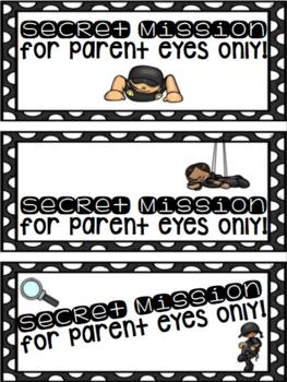 SECRET Parent Notes of Encouragement for Testing
