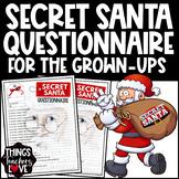 Secret Santa Questionnaire, USA Letter size