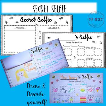 SECRET SELFIE - back to school activity