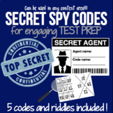 SECRET SPY CODES: Engaging Riddles for Test Prep in any content area!