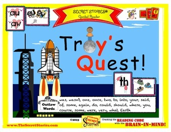 "SECRET STORIES® Guided Reader- ""Troy's Quest!"" (w/ Phonics Secrets!)"