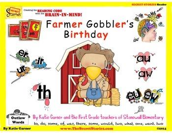 """SECRET STORIE® Guided Readers- """"Farmer Gobbler's Birthday"""" (W/ Phonics Secrets!)"""