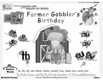 """SECRET STORIES® Guided Readers """"Farmer Gobbler's Birthday"""" (W/ Phonics Secrets!)"""