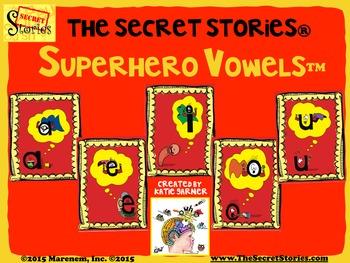 """SECRET STORIES Superhero Vowels® Phonics Posters """"Secrets!"""""""
