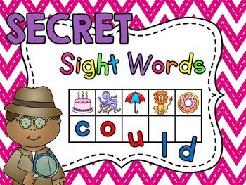 Secret Sight Words Centers