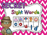 Secret Sight Words Centers - Fun Sight Word Games - Practice Letter Sounds too!