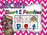 SECRET WORDS Short E Word Families Centers