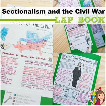 SECTIONALISM AND CIVIL WAR LAP BOOK