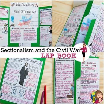 CIVIL WAR LAP BOOK and ACTIVITIES