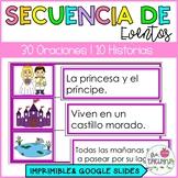 SECUENCIA DE EVENTOS/ COMPRENSIÓN DE LECTURA
