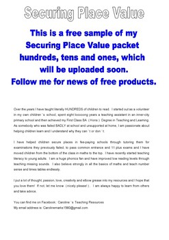 FREE! SECURING PLACE VALUE TENS AND ONES Intervention Remediation