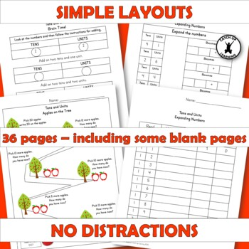 PLACE VALUE TENS ONES Workbook Number Sense Remediation Dyscalculia Intervention