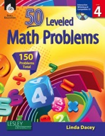 50 Leveled Math Problems: Level 4