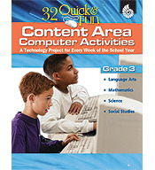 Quick and Fun Content Area Computer Activities Grade 3