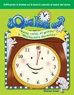 "��Qu̩ hora es? ""Reloj, reloj, el grit�_n"" y ""Muchachito dormil�_n"" (What Time Is It? Hickory, Dickory, Dock and Wee Willie Winkle)"