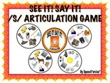 SPEECH THERAPY SEE IT! SAY IT! /S/ Articulation Game