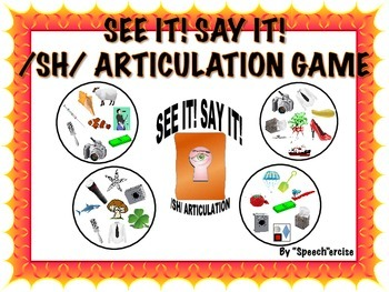 SPEECH THERAPY SEE IT! SAY IT! /SH/ Articulation Game