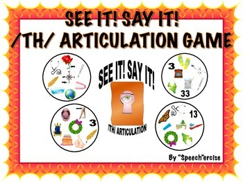 SPEECH THERAPY SEE IT! SAY IT! /TH/ Articulation Game