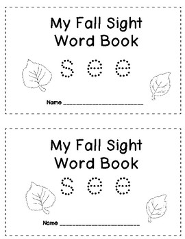 SEE Sight Word Book, Fall Themed