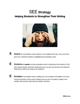 SEE Strategy: Students Strengthen Their Writing by Reading Like a Writer