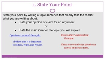 S.E.E. Strategy for Text-Based Writing