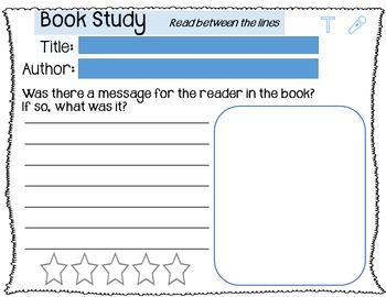 SEESAW Book Study Activities