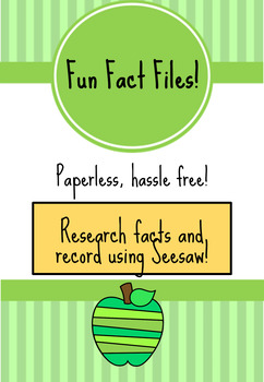 SEESAW Fun Fact Files