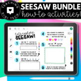 How to Use SEESAW for Students - DIGITAL ACTIVITY BUNDLE -