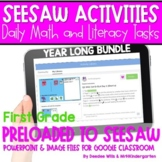 SEESAW Math & Literacy Tasks for Distance Learning   First
