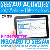 SEESAW Math & Literacy Tasks for Distance Learning   Kinde