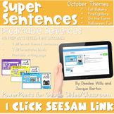 SEESAW Preloaded Digital Sentence Writing   October