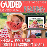 SEESAW Preloaded Guided Reading Nonfiction | Our Five Senses