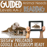 SEESAW Preloaded Guided Reading Nonfiction | What Animals Need