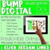 SEESAW & GOOGLE SLIDES Preloaded Kindergarten BUMP Games  