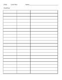 SEI Vocabulary Chart - Blank Template