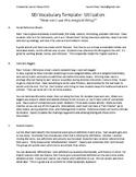 SEI Vocabulary Chart - Utilization Ideas and Activities