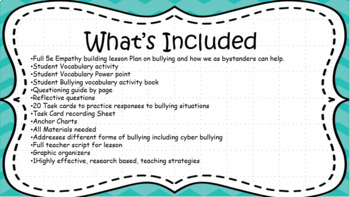 SEL Bullying Bundle: Includes Cyber Bullying. No Prep