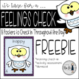 SEL Check-In Posters Snowy Owl Theme FREEBIE