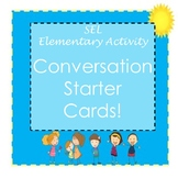SEL Conversation Starter Cards - Elementary Social Emotional Learning Activity