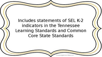 SEL I Can Statements K-2