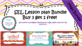 SEL Lesson Bundle: 4 SEL Lesson plans for the Price of 3! Print and Digital